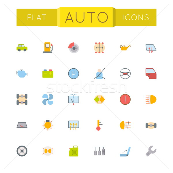 Vector Flat Auto Icons Stock photo © dashadima