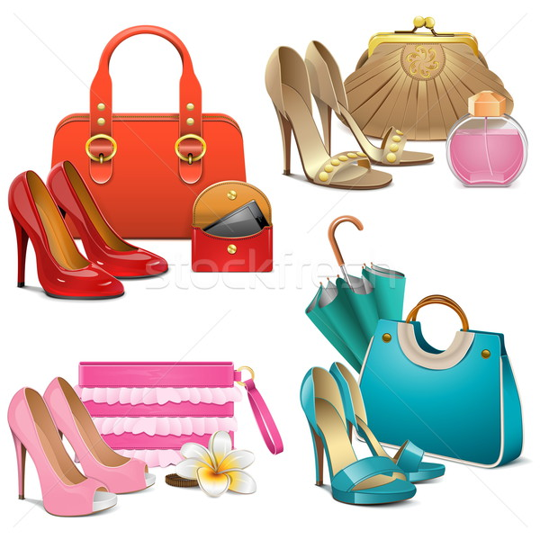 Vector Fashion Accessories Set Stock photo © dashadima