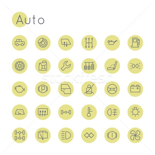 Vector Round Auto Icons Stock photo © dashadima