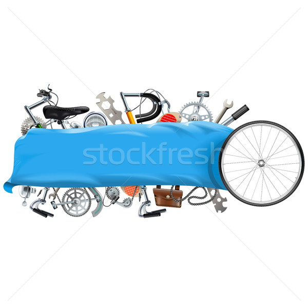 Vector Banner with Bicycle Spares Stock photo © dashadima