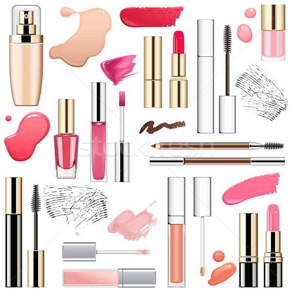 Vector Makeup Cosmetics with Smears Stock photo © dashadima