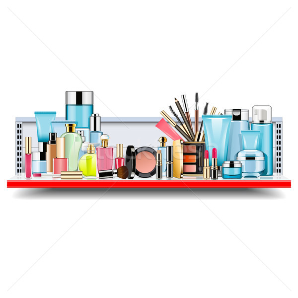 Vector Supermarket Shelf with Cosmetics Stock photo © dashadima