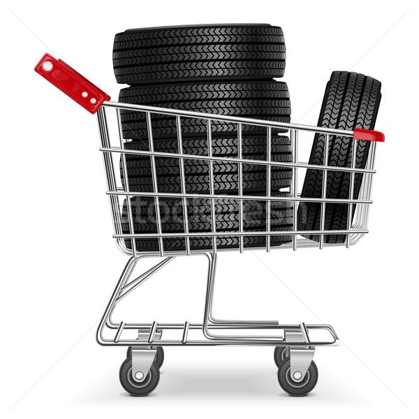 Vector Trolley with Tires Stock photo © dashadima