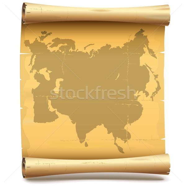 Vector Paper Scroll with Eurasia Stock photo © dashadima