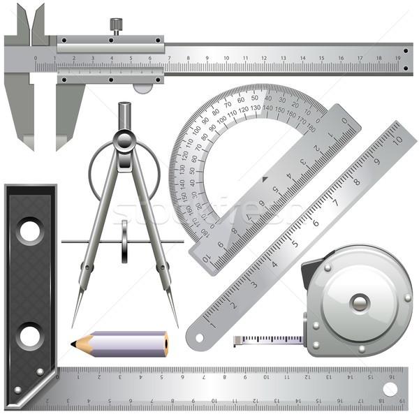 Vector herramientas aislado blanco lápiz Foto stock © dashadima