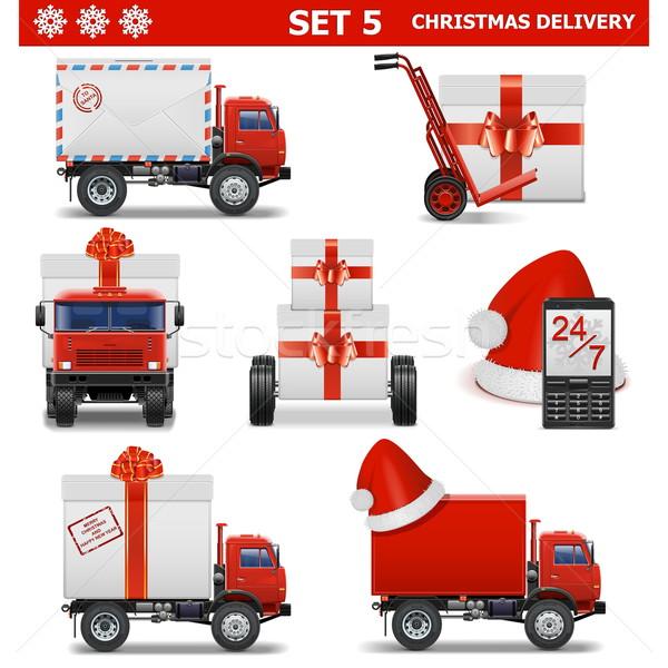 Vector Christmas Delivery Set 5 Stock photo © dashadima