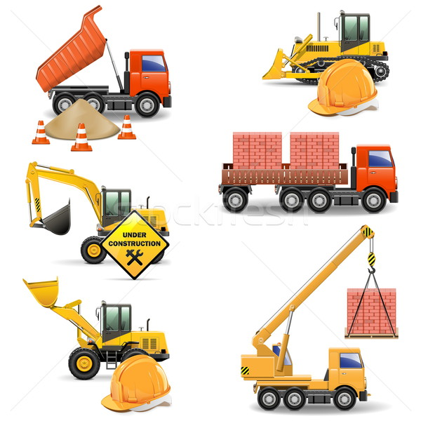 Stock photo: Vector Construction Machines Set 4