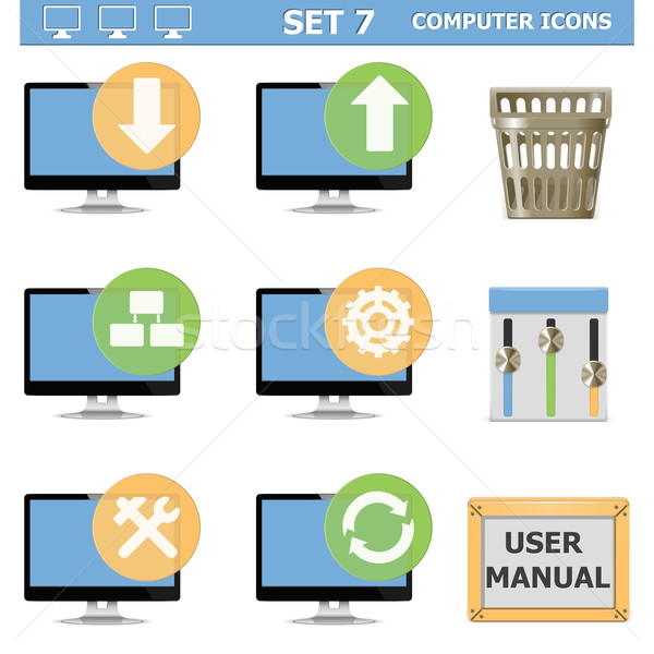 Vector Computer Icons Set 7 Stock photo © dashadima