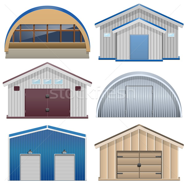 Vector Barns Stock photo © dashadima
