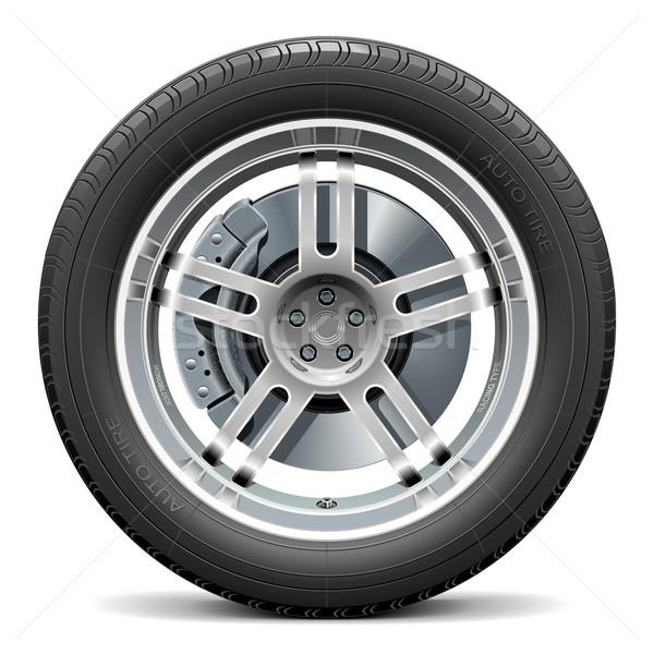 Vector Car Wheel with Disk Brake Stock photo © dashadima
