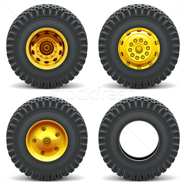 Vector Construction Machines Wheels Stock photo © dashadima