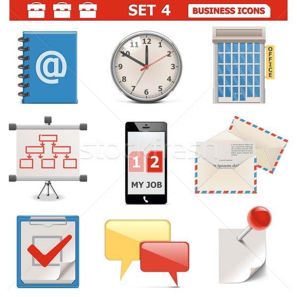 Vector Business Icons Set 4 Stock photo © dashadima