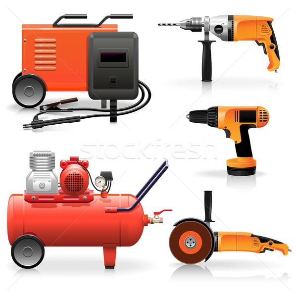 Vector Electric Tools Icons Stock photo © dashadima
