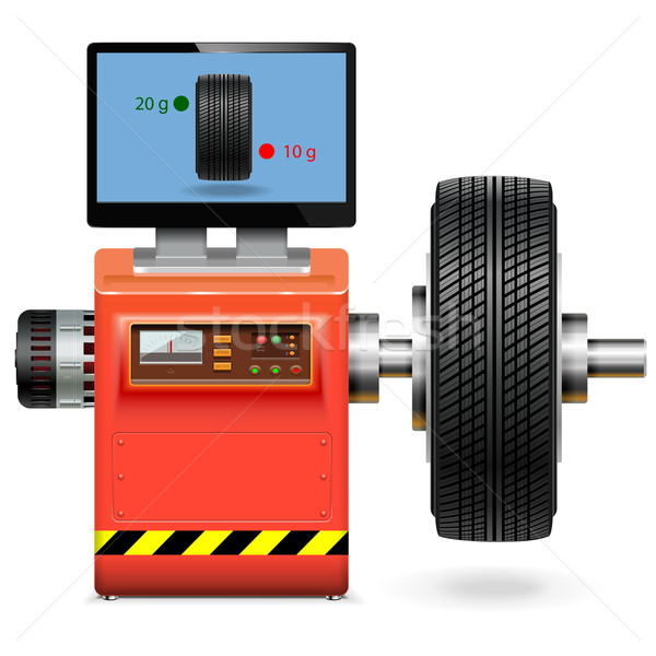 Stock photo: Vector Balancing Wheel Service