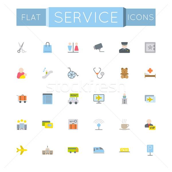 Vettore servizio icone isolato bianco internet Foto d'archivio © dashadima
