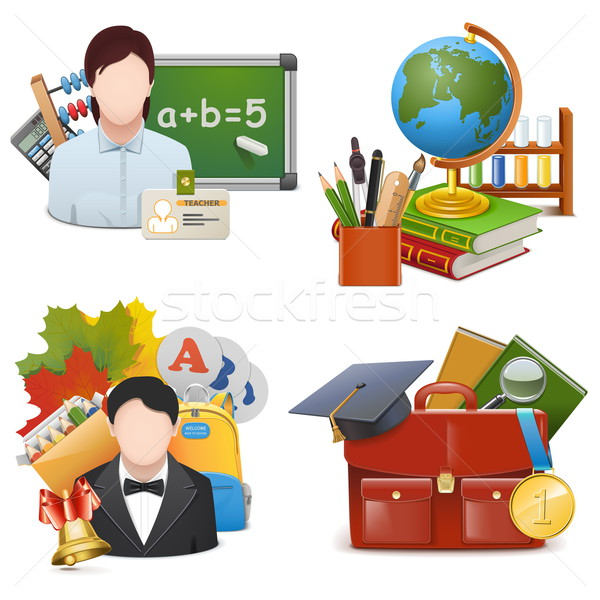 Vector School Concept Icons Set 2 Stock photo © dashadima