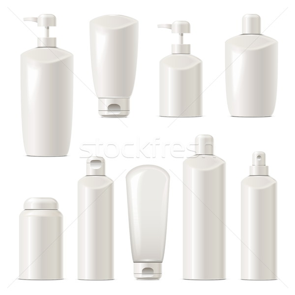 Vector Cosmetic Packaging Icons Set 4 Stock photo © dashadima