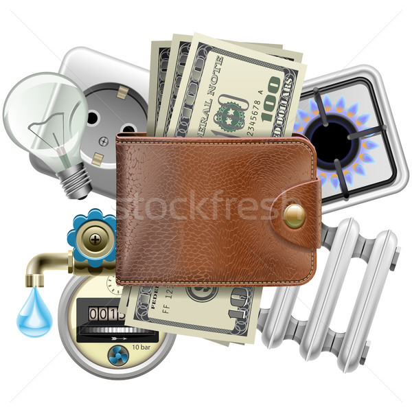 Vector Utilities Payments Concept Stock photo © dashadima