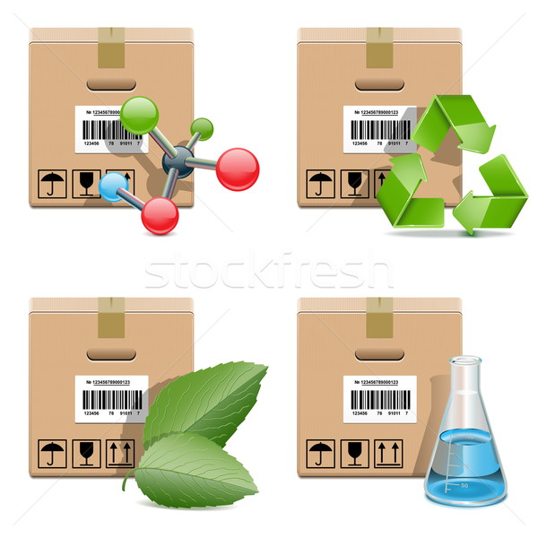 Vector Shipment Icons Set 29 Stock photo © dashadima