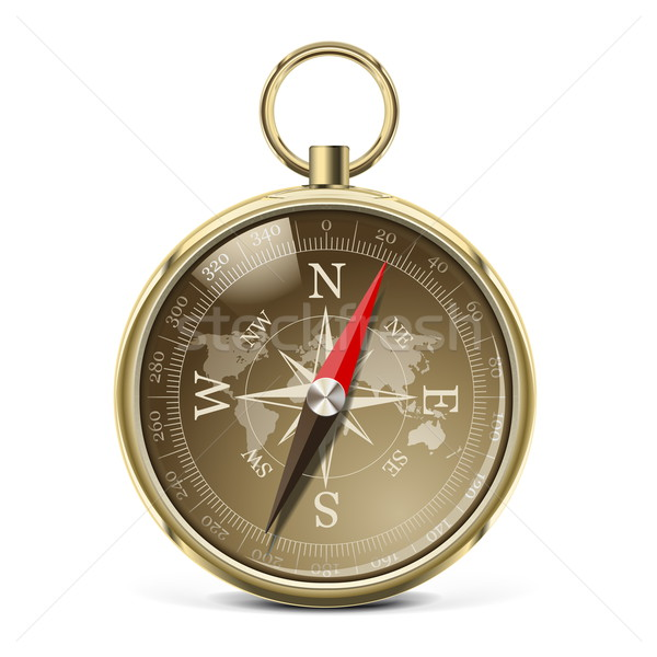 Vector Golden Compass Stock photo © dashadima
