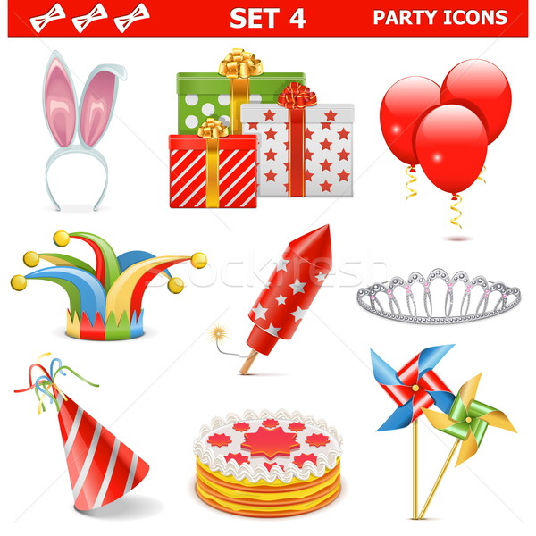Vector Party Icons Set 4 Stock photo © dashadima