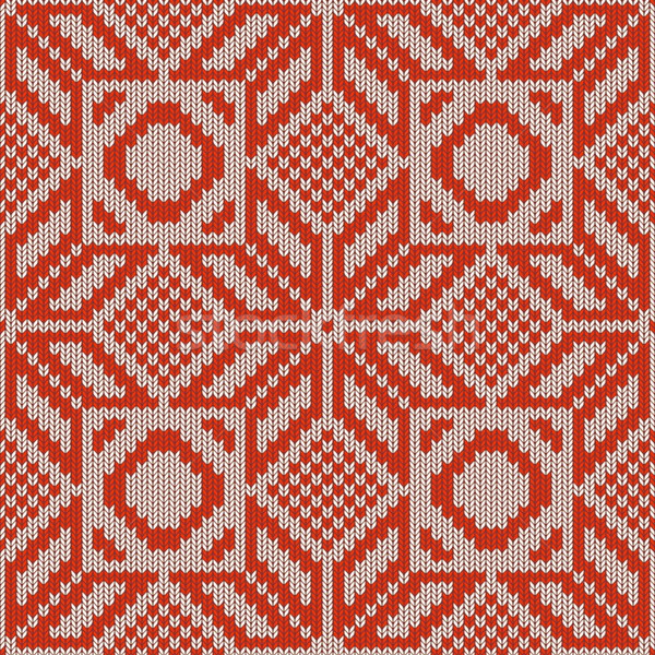 Vector Winter Knitted Pattern 1 Stock photo © dashadima