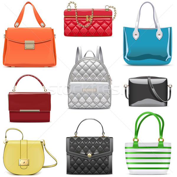 Vector Fashion Female Handbags Stock photo © dashadima