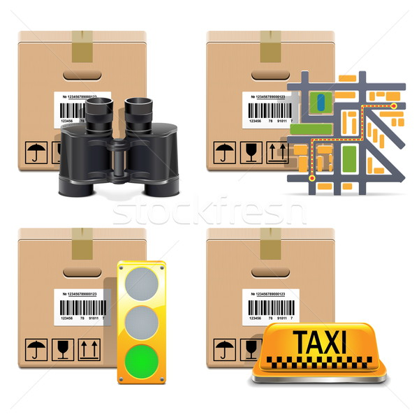 Vector Shipment Icons Set 10 Stock photo © dashadima