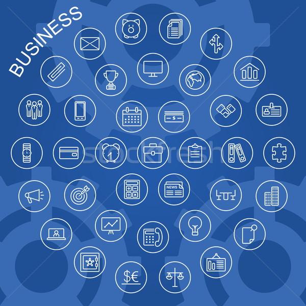 Vector Line Icons - Business Stock photo © dashadima