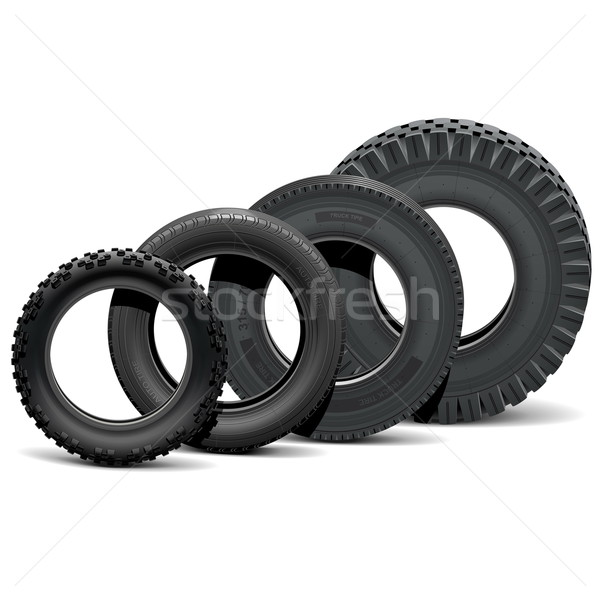 Vector Different Vehicle Tires Stock photo © dashadima