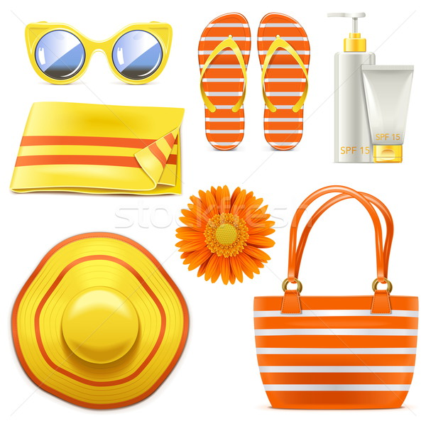 Vector Beach Accessories Stock photo © dashadima