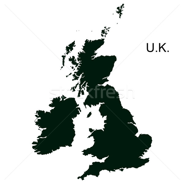 Stok fotoğraf: Vektör · büyük · britanya · resim · yazı · yalıtılmış · beyaz · siyah
