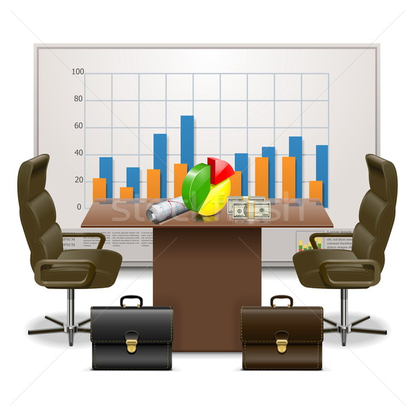 Vector Business Plan Concept Stock photo © dashadima