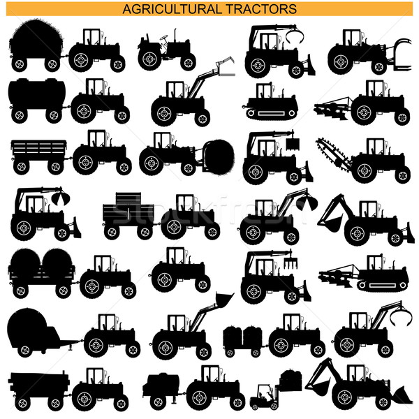 Vector Agricultural Tractor Pictograms Stock photo © dashadima