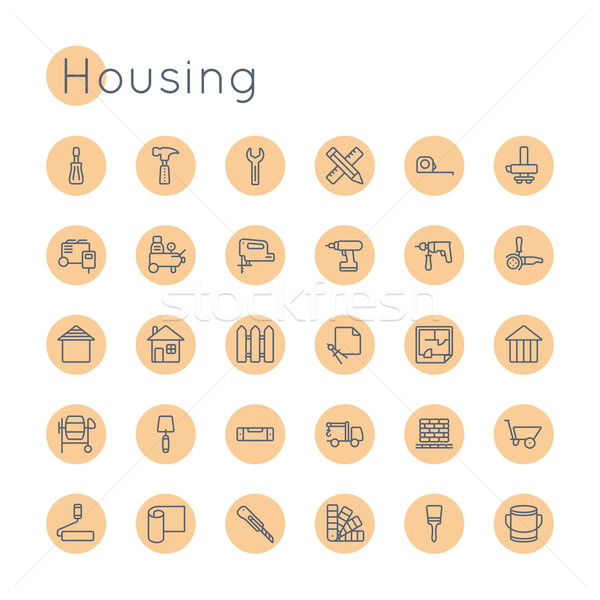 Vector Round Housing Icons Stock photo © dashadima