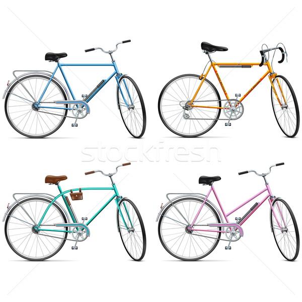 Vector Bicycle Set Stock photo © dashadima