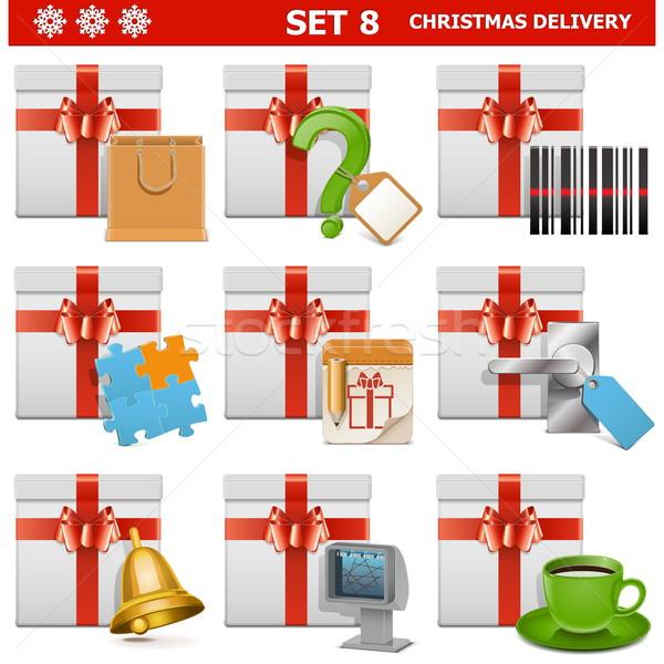 Vector Christmas Delivery Set 8 Stock photo © dashadima