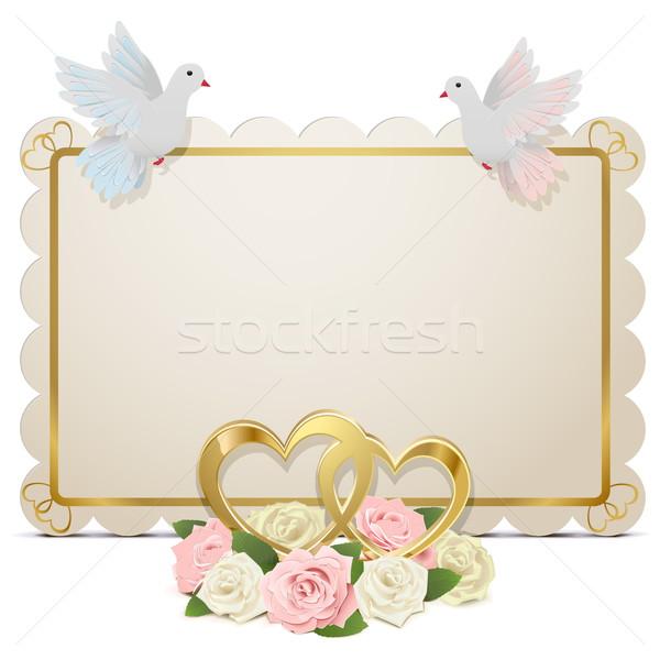 Vector Wedding Board Stock photo © dashadima