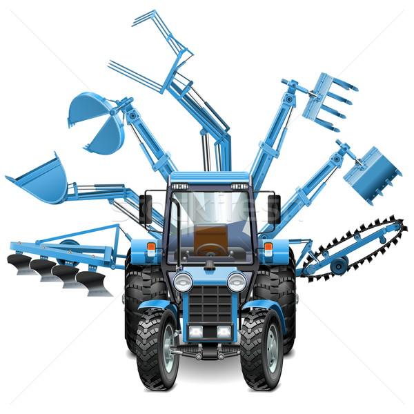 Vector Tractor Multi Equipment Stock photo © dashadima