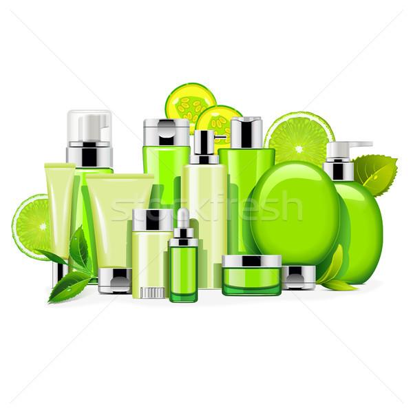 Vecteur énergie cosmétiques isolé blanche cheveux Photo stock © dashadima