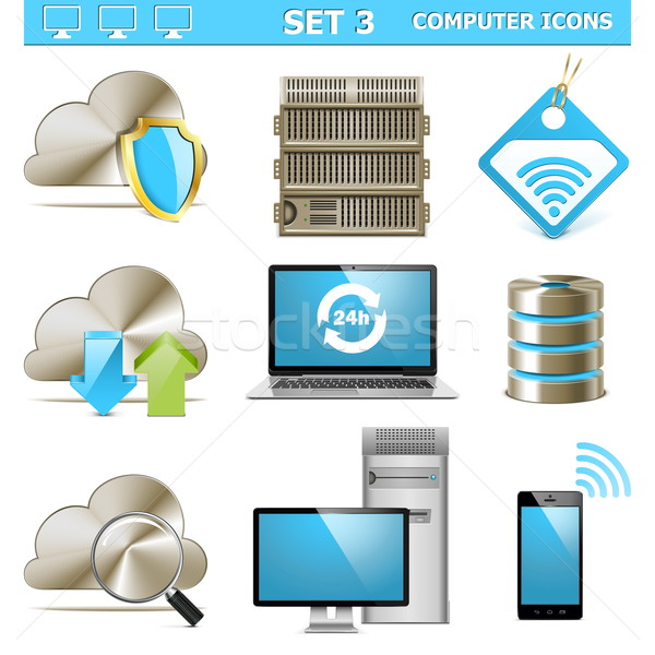 Vector Computer Icons Set 3 Stock photo © dashadima