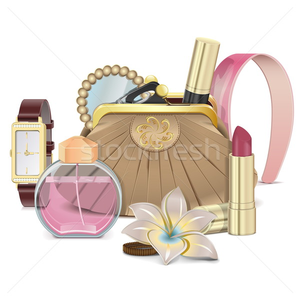 Vector Purse with Accessories Stock photo © dashadima