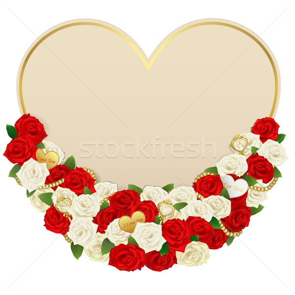 Stock photo: Vector Romantic Flower Card