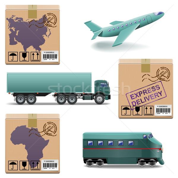 Vector Shipment Icons Set 27 Stock photo © dashadima