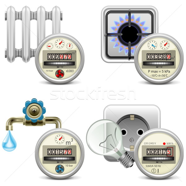 Vector Meter Icons Stock photo © dashadima