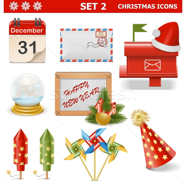 Vector Christmas Icons Set 2 Stock photo © dashadima