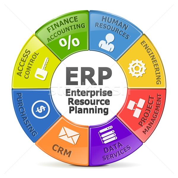 Vector ERP system Stock photo © dashadima
