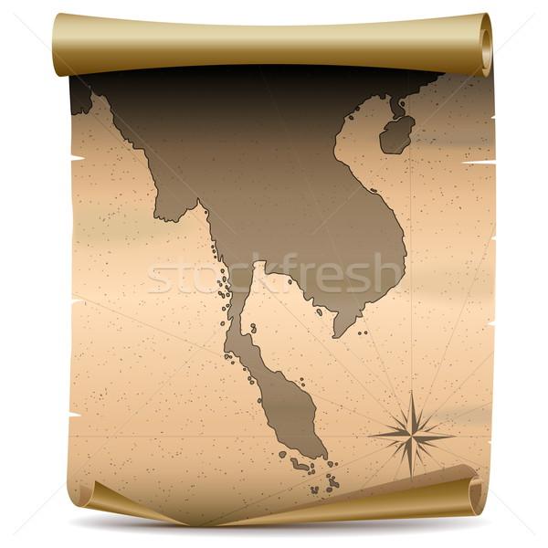 Vector Thailand Vintage Map Stock photo © dashadima