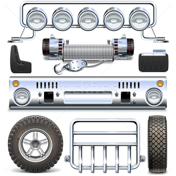 Vector Offroad Car Spares Stock photo © dashadima