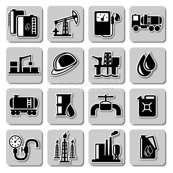 Vector oil industry icons Stock photo © dashadima